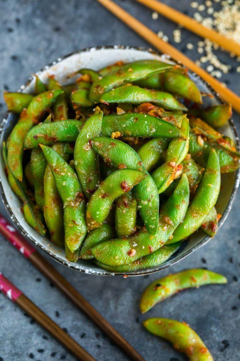Spicy Edamame Recipe Appetizer Recipes Edamame Spicy Recipes