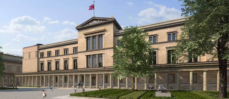 Neues Museum Berlin Germany Museum Island Historical View Architectural Competition