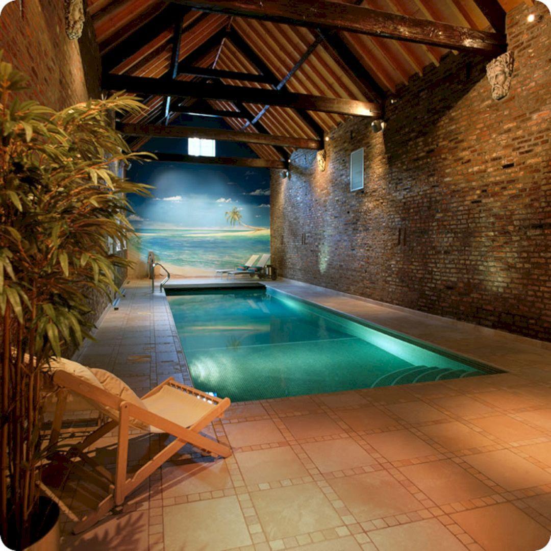 25 Stunning Indoor Swimming Pool Design For Luxury Home Decoration Freshouz Com Zwembad Huizen Binnenzwembad Luxe Zwembaden