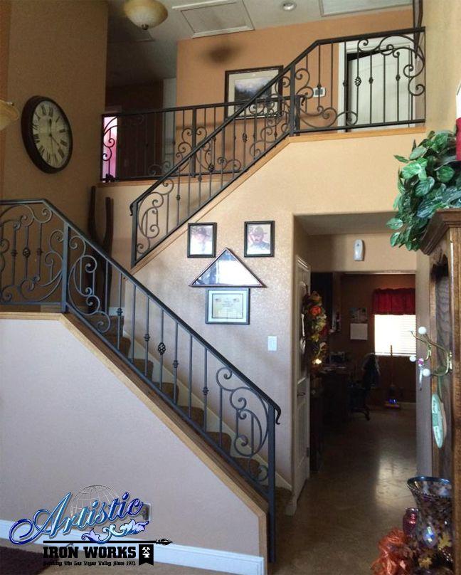 Gorgeous Custom Wrought Iron Stair Railings