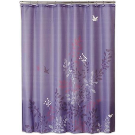 Allure Avery Shower Curtain Walmart Com Purple Shower Curtain