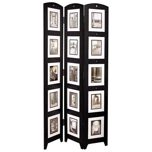 nexxt 3 panel photo frame floor screen black