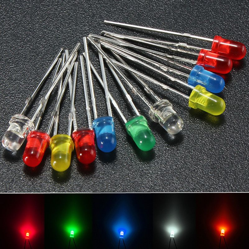 100pcs 5mm Red Diffused Round Bright LED Leds Light Lamp Free Shipping New