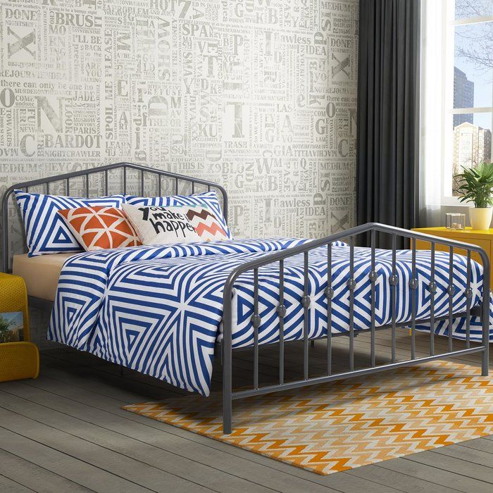 Bushwick Platform Bed Queen metal bed, Metal beds, Metal