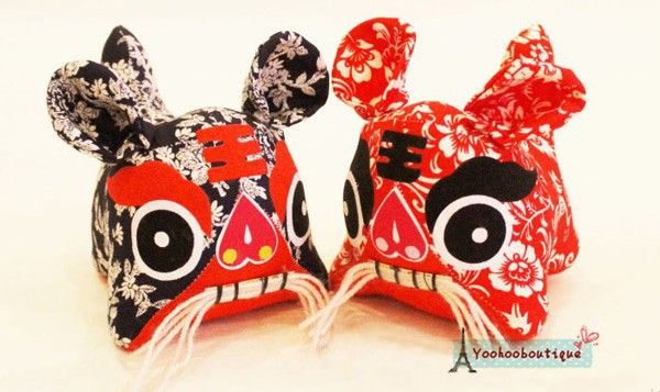 Free Shipping Handmade Chinese Traditional Tiger Small