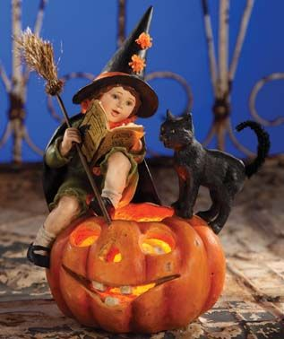Bethany Lowe Willow The Witch Halloween Party Retro Vintage Home Decoration Doll