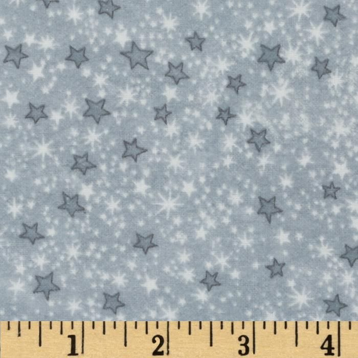 Comfy Flannel Stars Grey from @fabricdotcom  This double napped (brushed on both sides) flannel is perfect for quilting and apparel. Colors include shades of grey and white.