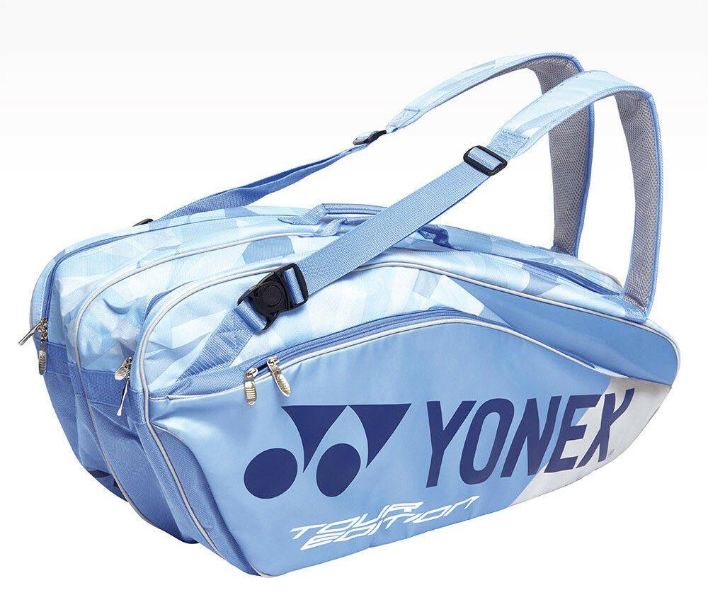 Yonex Badminton Tennis Squash 3 Packs Racquet Clear Blue Backpack Bag9829ex Yonex Backpack Badminton Bag Blue Backpack Yonex