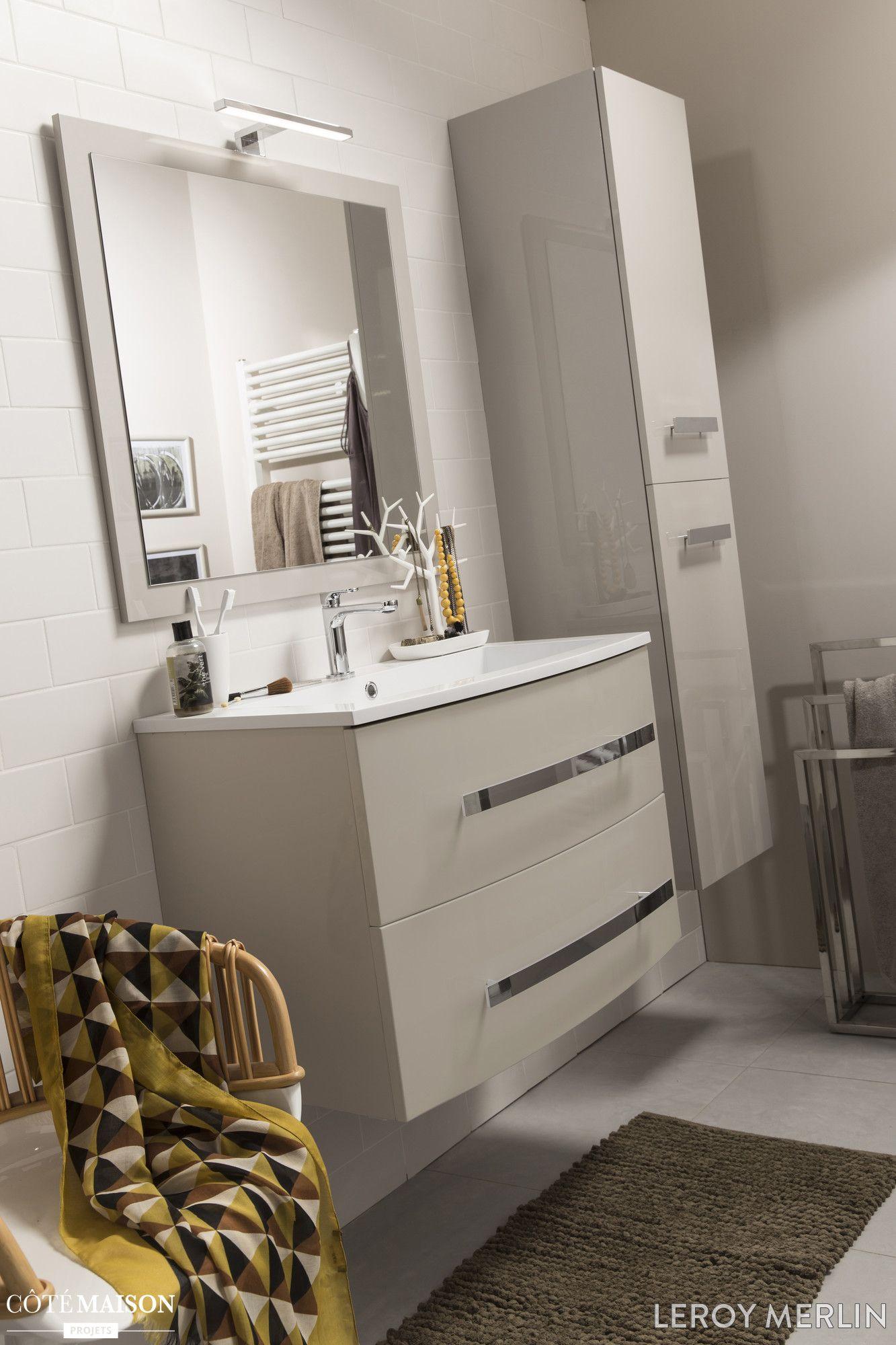 Petites Salles De Bains Leroy Merlin Cote Maison Renovation Maison Petite Salle De Bain Meuble Simple