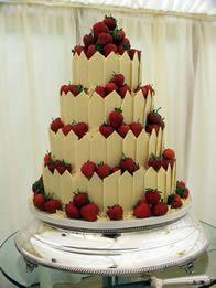 White Chocolate Shard And Fresh Strawberry Cakethis Looks So Good