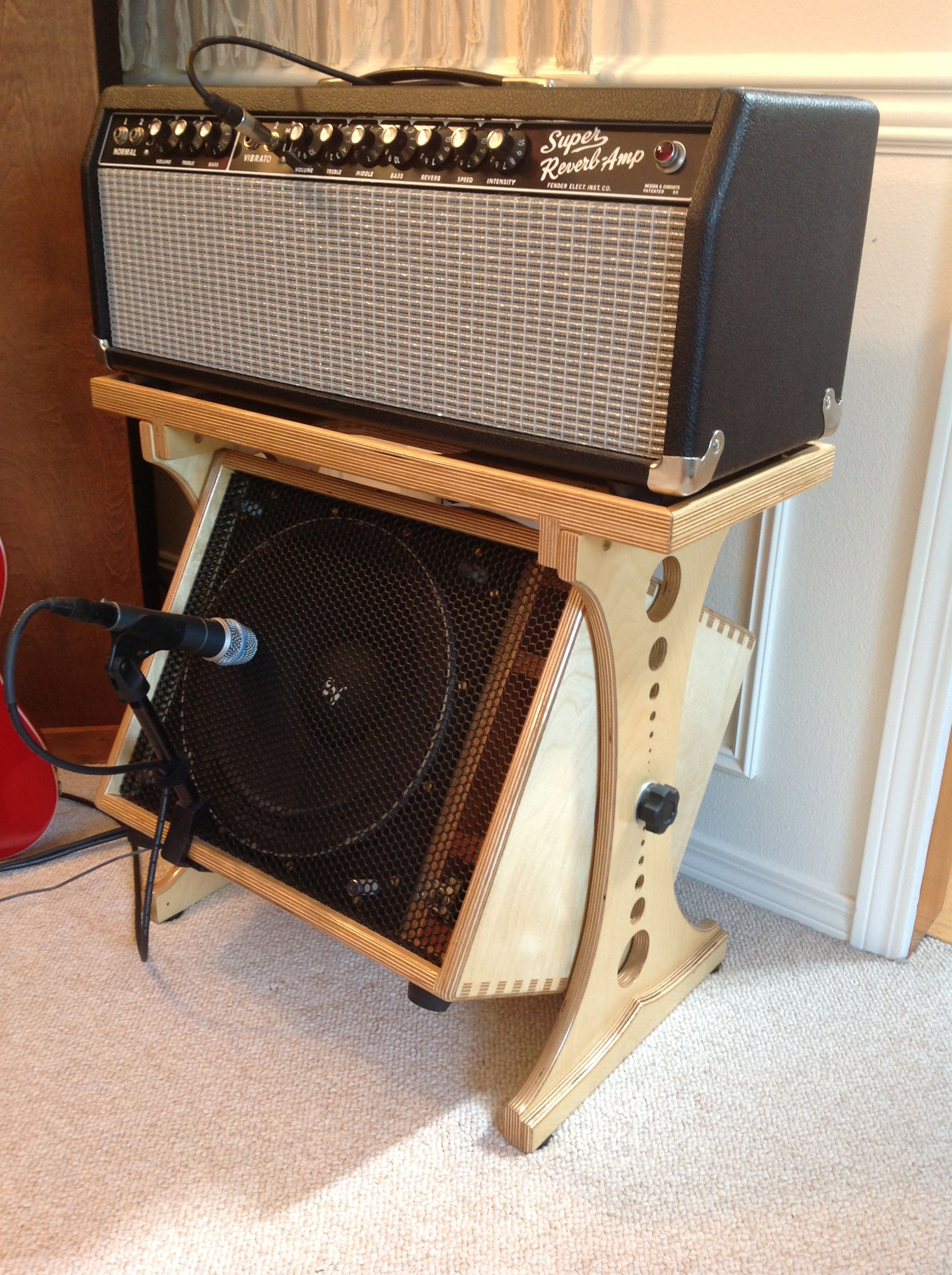 Rotating 1x12 Guitar Speaker Cabinet Amp Stand Guitar