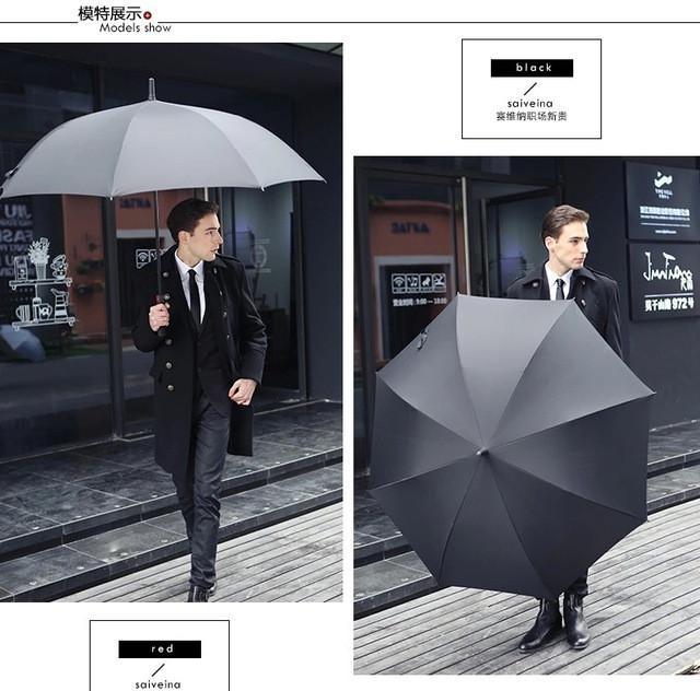 Savedina business men umbrellas Big Large long Handle Automatic Umbrella rain Women #largeumbrella