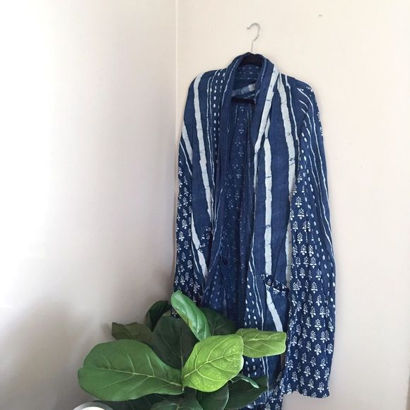 Urban Outfitters Dream Catcher Indigo Cape A great summer cape to wear in the warmer months / perfect for festivals! / light wear and in great condition! Urban Outfitters Other