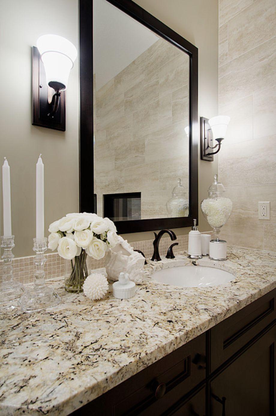 46 Cool Bathroom Counter Organization Ideas | Bathroom ... on Bathroom Ideas With Black Granite Countertops  id=15813