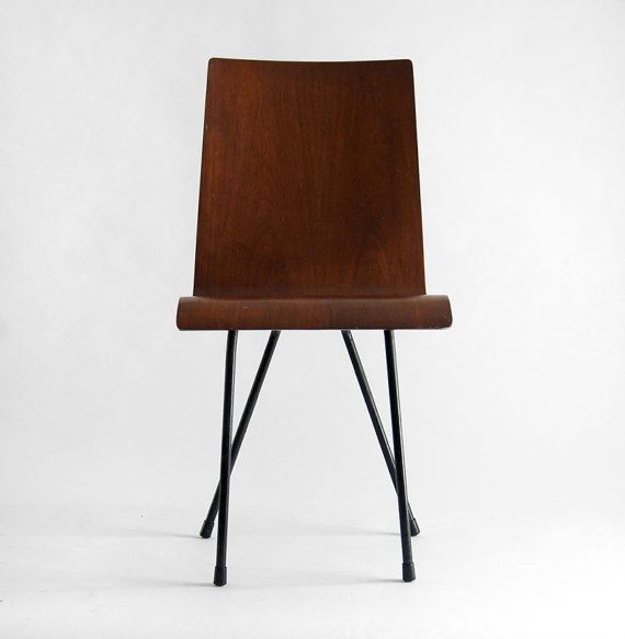Vintage Bent Plywood Chair Mid Century Modern Wood by ...