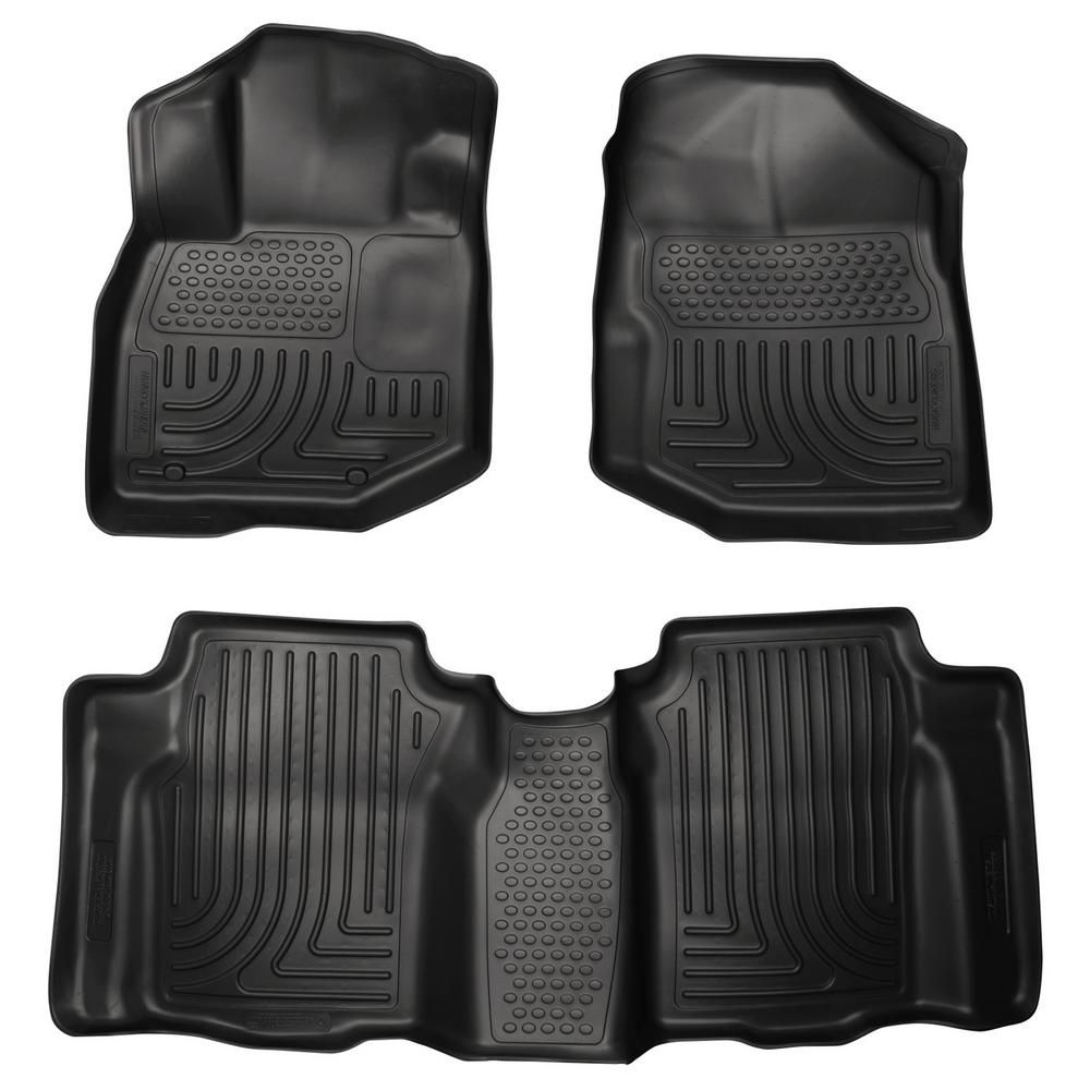 Husky Liners Front 2nd Seat Floor Liners Footwell Coverage Fits 09 13 Fit 98491 The Home Depot In 2021 2013 Honda Fit Honda Fit Husky Liners