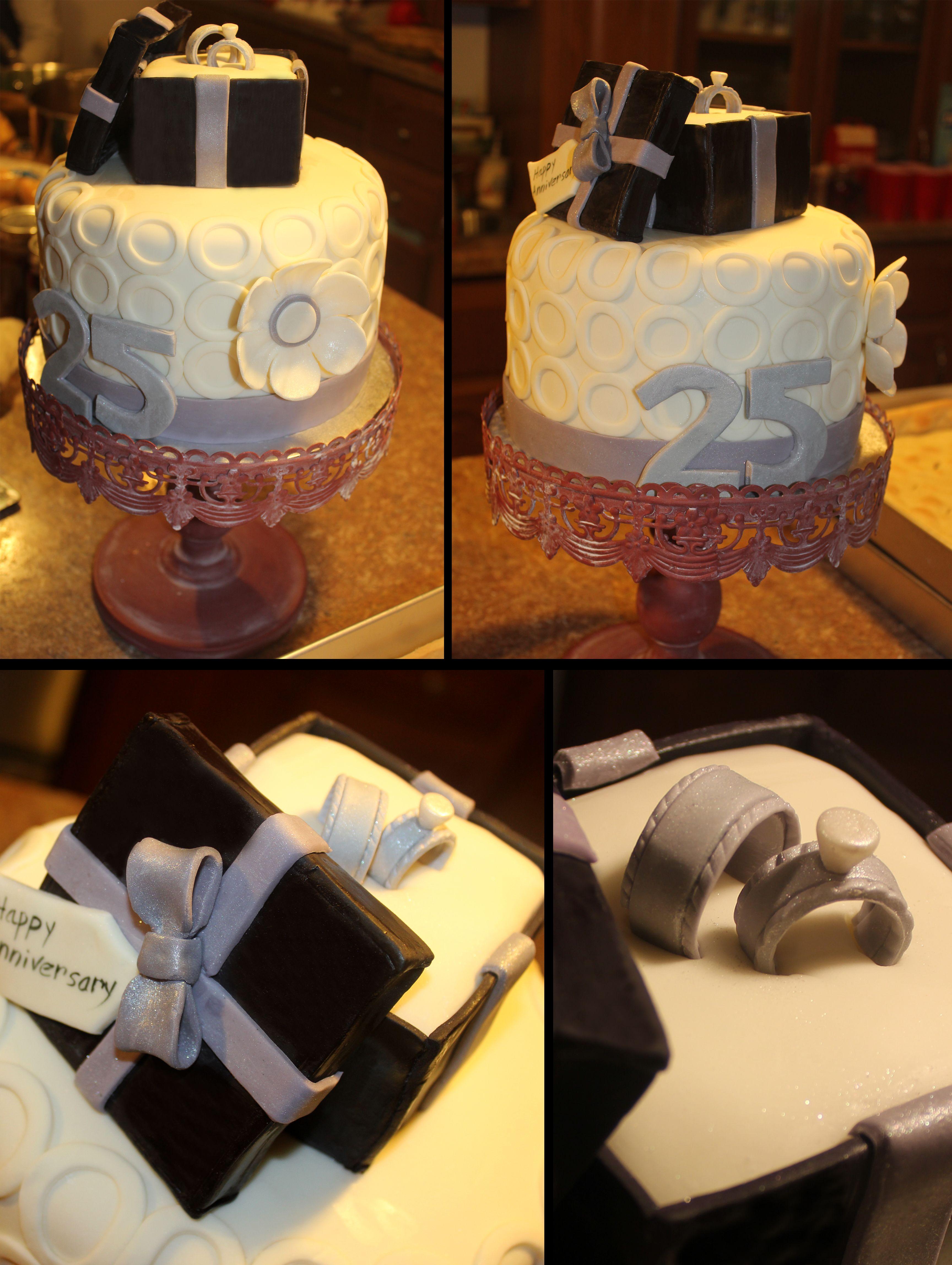 wedding anniversary rings 25th Wedding Anniversary Rings in Box cake