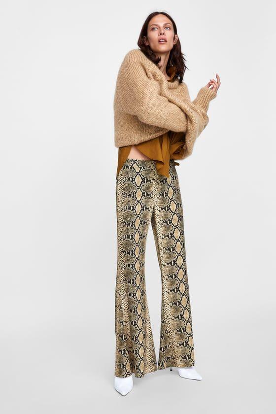 PANTALÓN FLARE ESTAMPADO SERPIENTE | Fashion Wishlist ...
