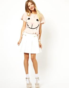 Image 4 of Wildfox Naughty Cat Face T-Shirt