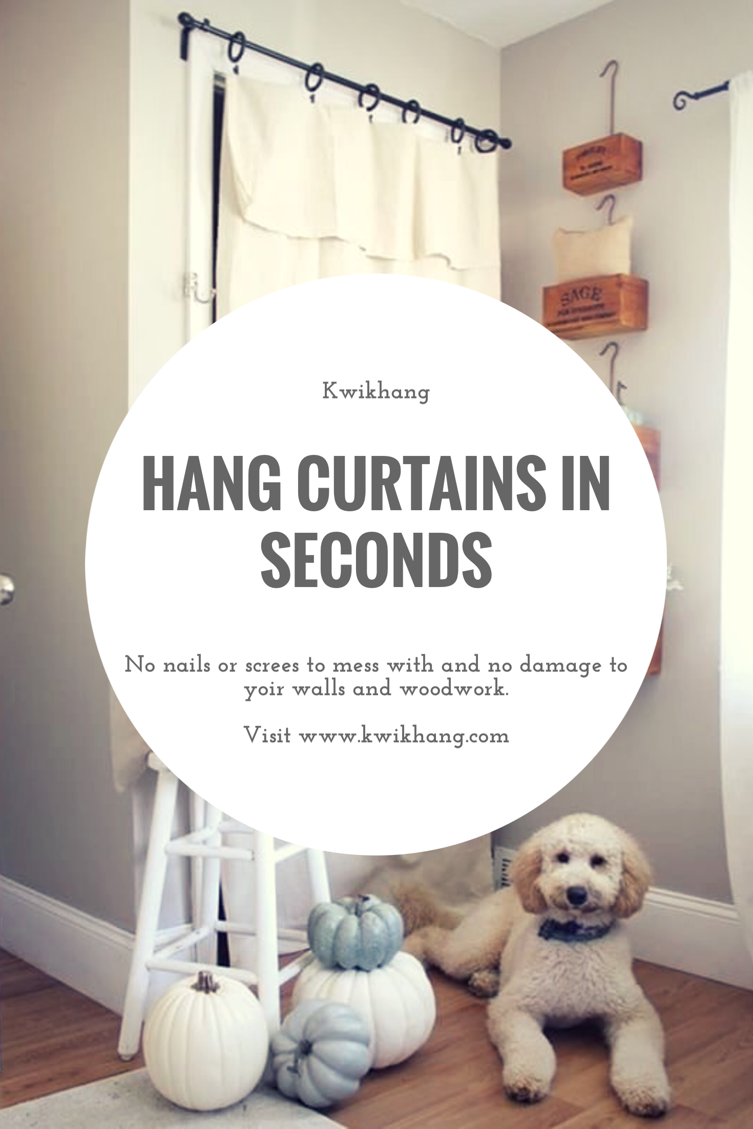 Simple And Fast Way To Hang Curtains Leaving No Damage Behind Hanging Curtains Curtains Over Blinds Vertical Blinds Diy