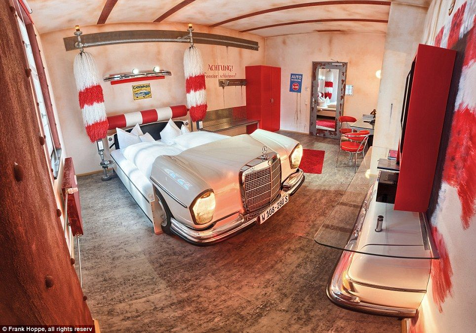 In A Spin Car Wash Themed Suite Inside The V8 Hotel Germany