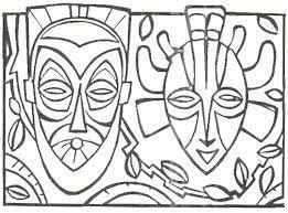 Resultado De Imagem Para Desenhos Africanos Para Colorir Mascaras Africanas Para Colorir Projetos De Arte Africana Mascaras Africanas