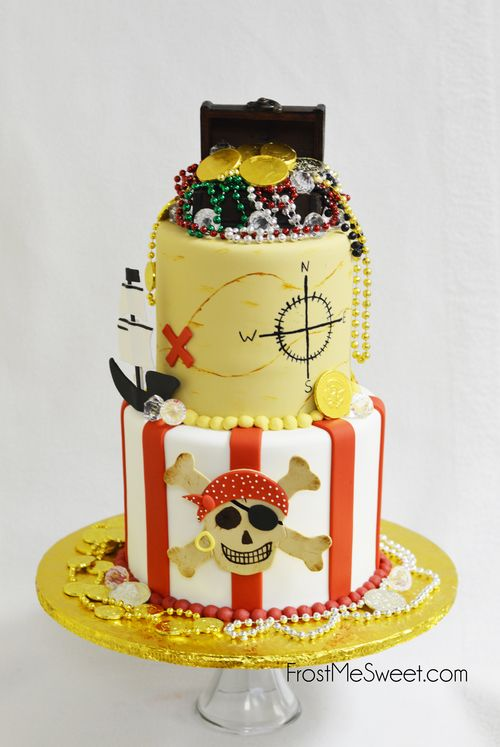 Pirate Treasure Chest Boy Boys cake by Frost Me Sweet | Louis party ...