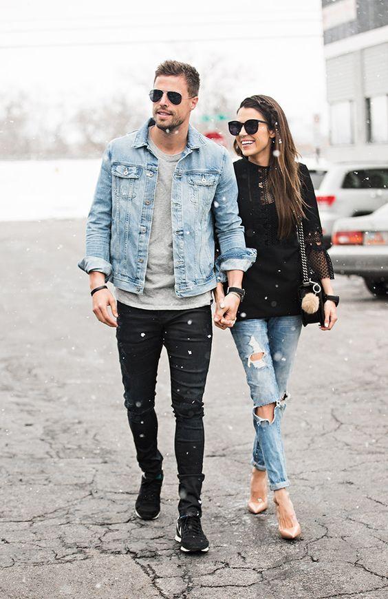 Resultado de imagen para outfit parejas mezclilla