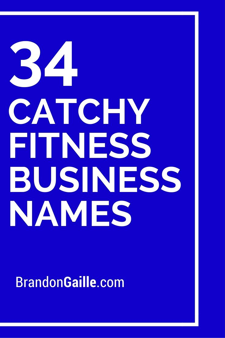 Cool and catchy fitness business names