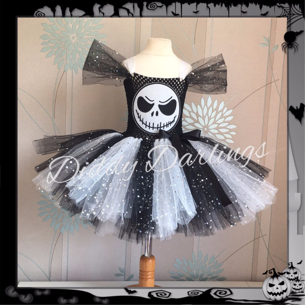 Sparkly Jack Skellington Tutu Dress Costume Halloween Nightmare ...