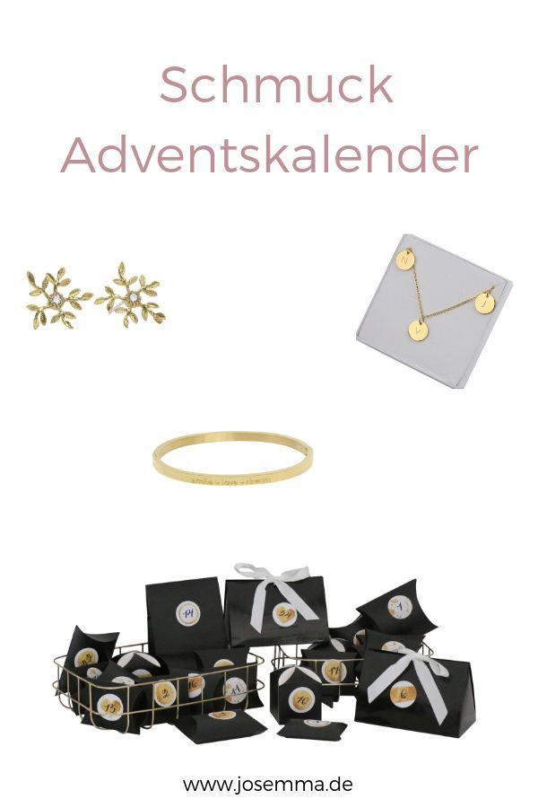 Adventskalender befüllt mit hübschen Schmuckstücken in Gold, Silber oder Rose…