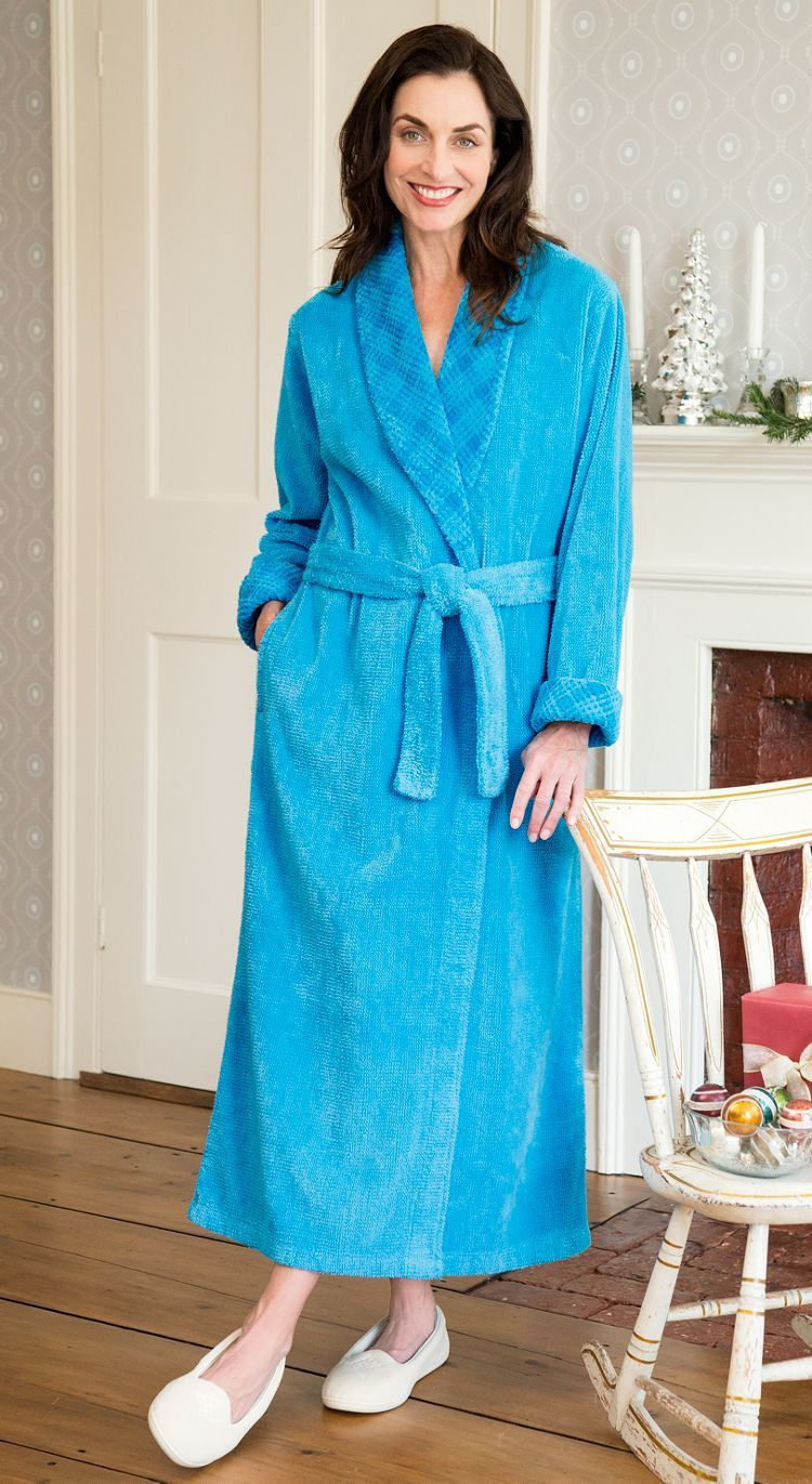 Chenille robe with attached belt. | I want that! | Pinterest ...