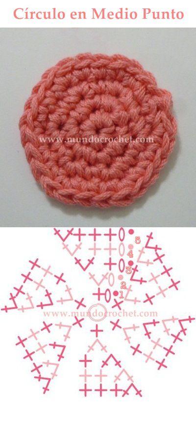 como tejer un circulo perfecto a crochet o ganchillo 12 | crochet ...