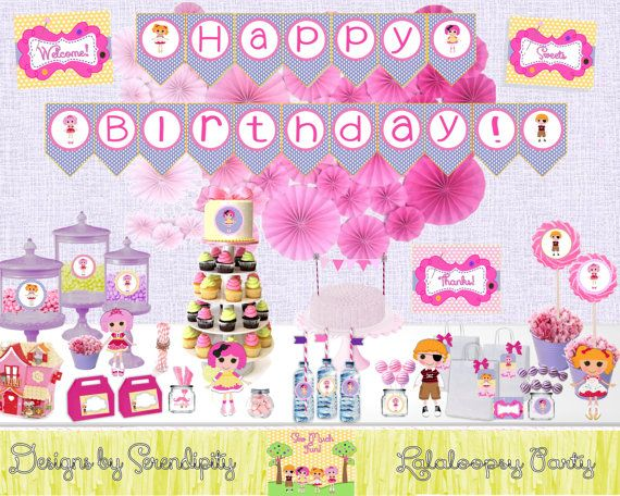 Lalaloopsy Party, 60% off, NEW Instant Download DIY, Cupcake Toppers, Water Bottle Labels, Signs, Food Cards and Much More