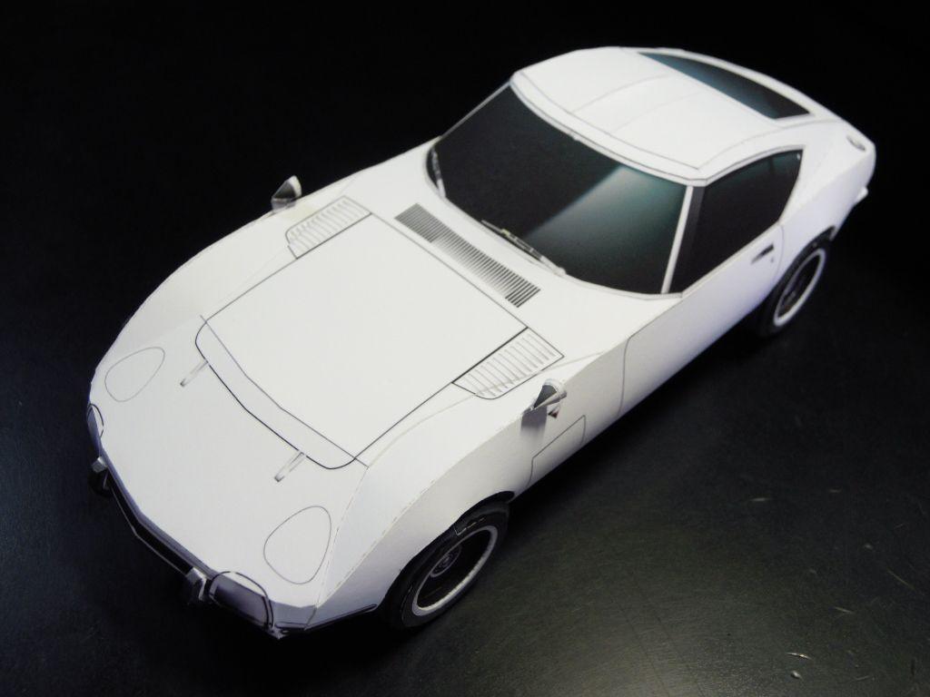 Shinya Papercraft ペーパークラフトつくっちゃお ペーパーモデル トヨタ2000gt トヨタ