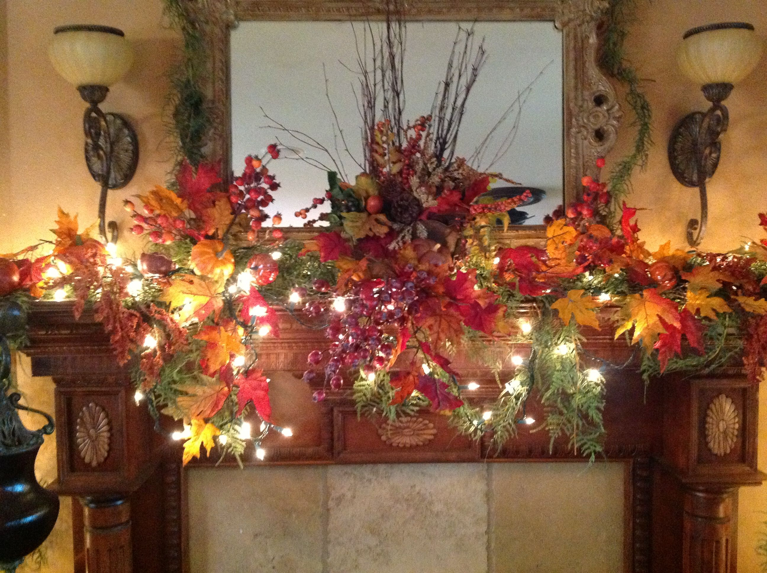 Christmas Mantel Decorations Garland Fireplace Mantel Design