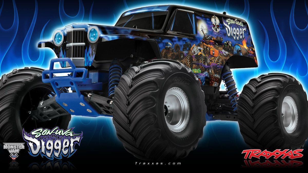 Monster Truck Wallpaper Google Search Monster Trucks Traxxas Rc Monster Truck