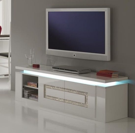 Garde Tv Stand In White Gloss And