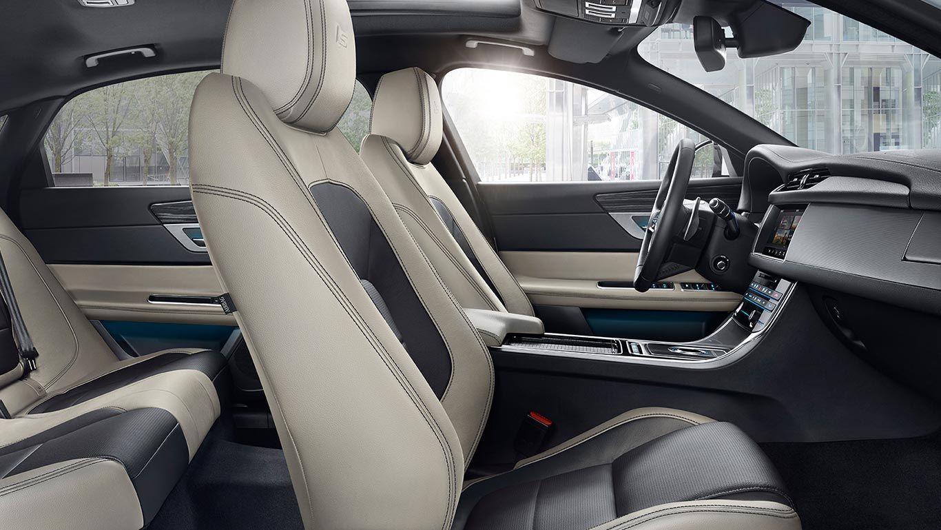 Xf S Interior With Light Oyster And Jet Trim Jaguar Usa Jaguar Xf Dream Cars