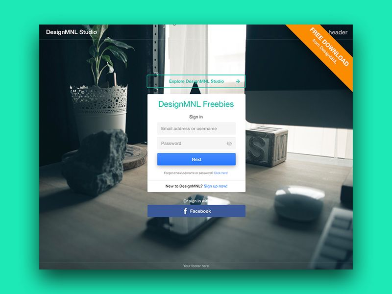 Free Log In Template Psd  Template Logs And Ui Ux Design