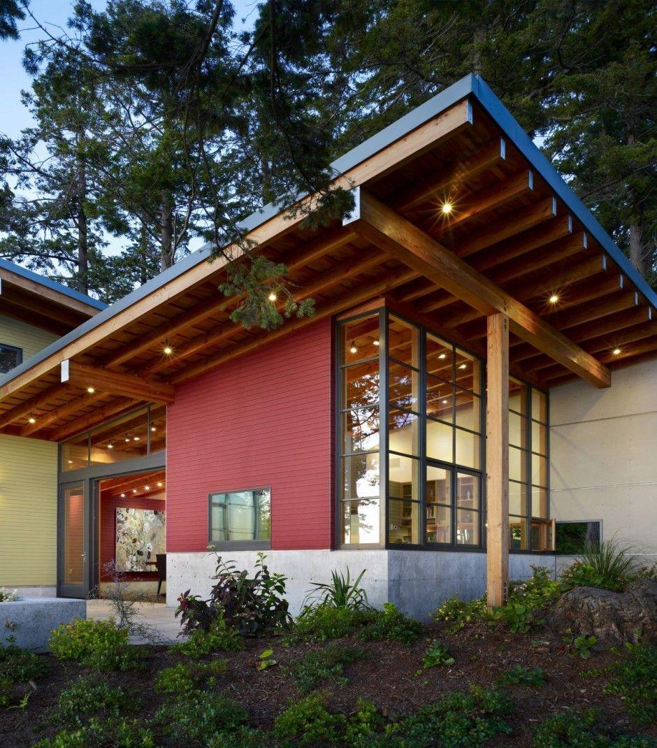 Casa moderna en el bosque 6 pinterest en el bosque for Casa moderna 6 mirote y blancana
