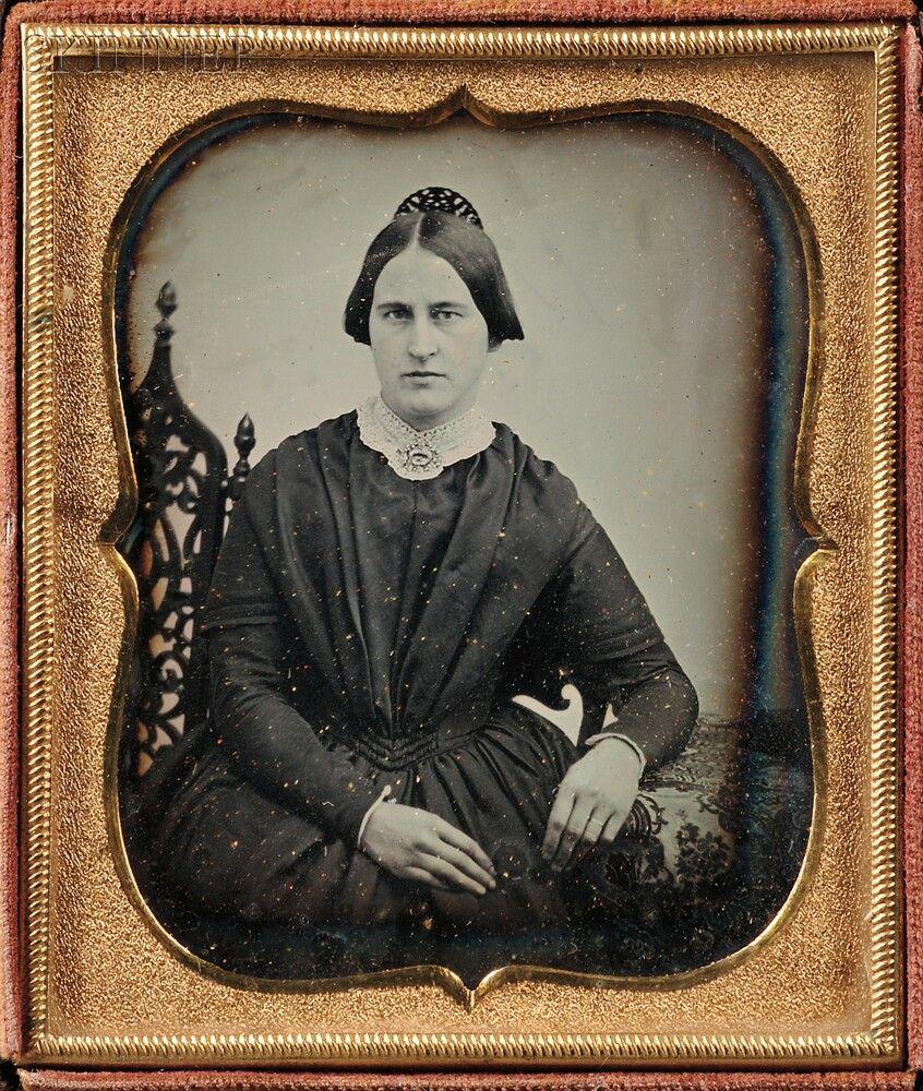 Two Daguerreotypes:      Boston School, 19th Century, Sixth-plate Daguerreotype…