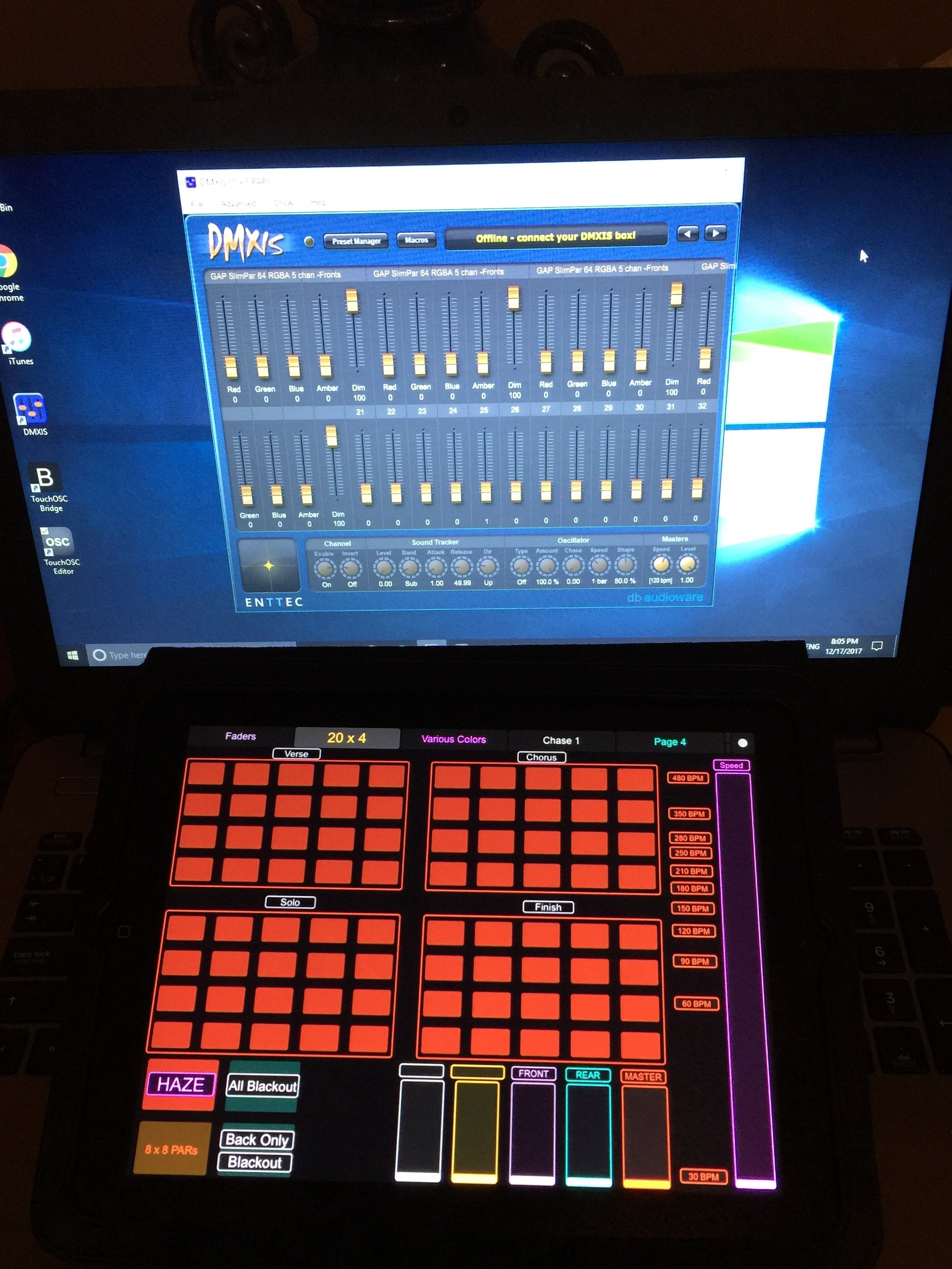 control lighting with ipad. Glaser Audio Productions - Designing Another Layout With TouchOSC For The Lighting IPad. It\u0027s Controlling DMXIS On Laptop, Which Is Connected To DMX Control Ipad