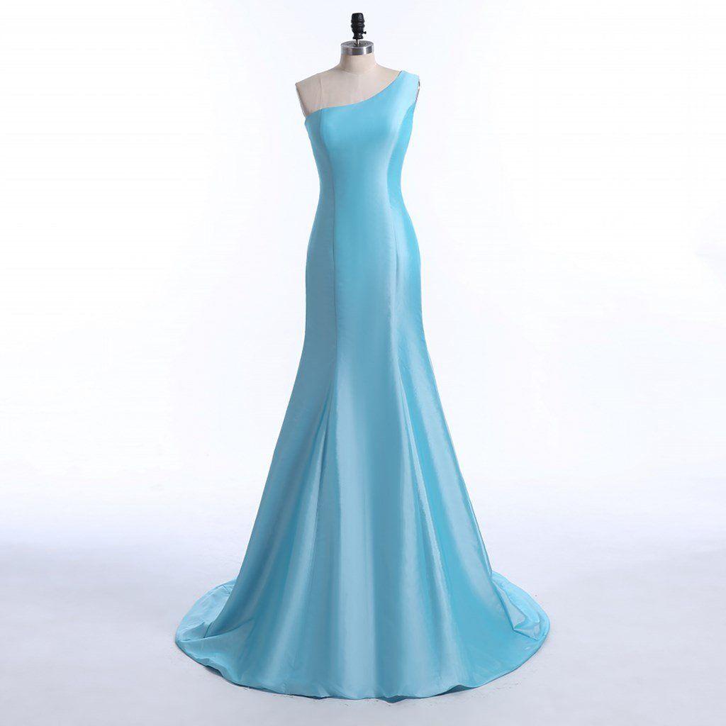 Danzinier Women\'s One Shoulder Trumpet Prom Dress Evening Gown ...