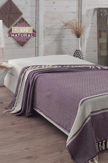 Levendula pamut ágytakaró  93dd470822