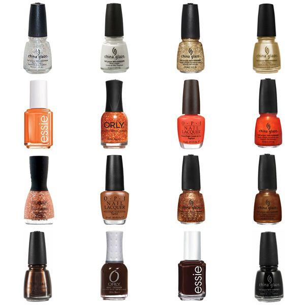 Orange Nail Polish Combinations: Orange & Brown Nail Polish Shades & Color Combinations