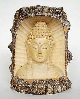 Carved Wooden Log Buddha Head 15 cm | Buddha head, Buddha and Buddhism