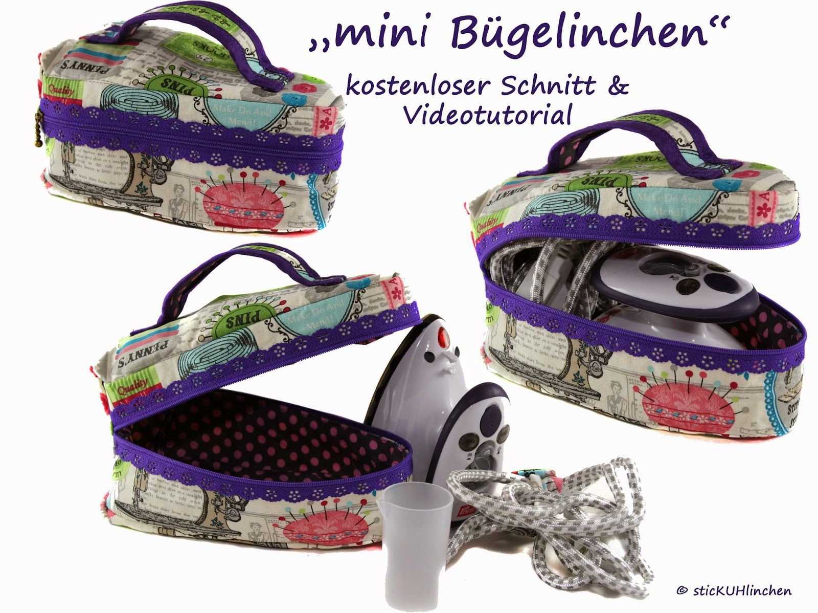 sticKUHlinchen: Schnitte & Tutorial - free pattern | Sewing Bags ...