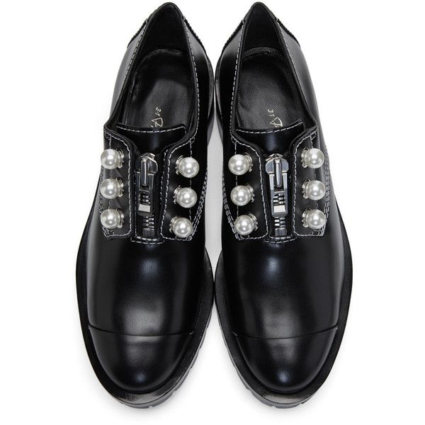 3 1 Phillip Lim Black Lug Zipper Pearl Oxfords 2 355 Pln Liked On Polyvore Featuring Shoes Oxfords Rub Phillip Lim Shoes Shoe Inspiration Dress Shoes Men