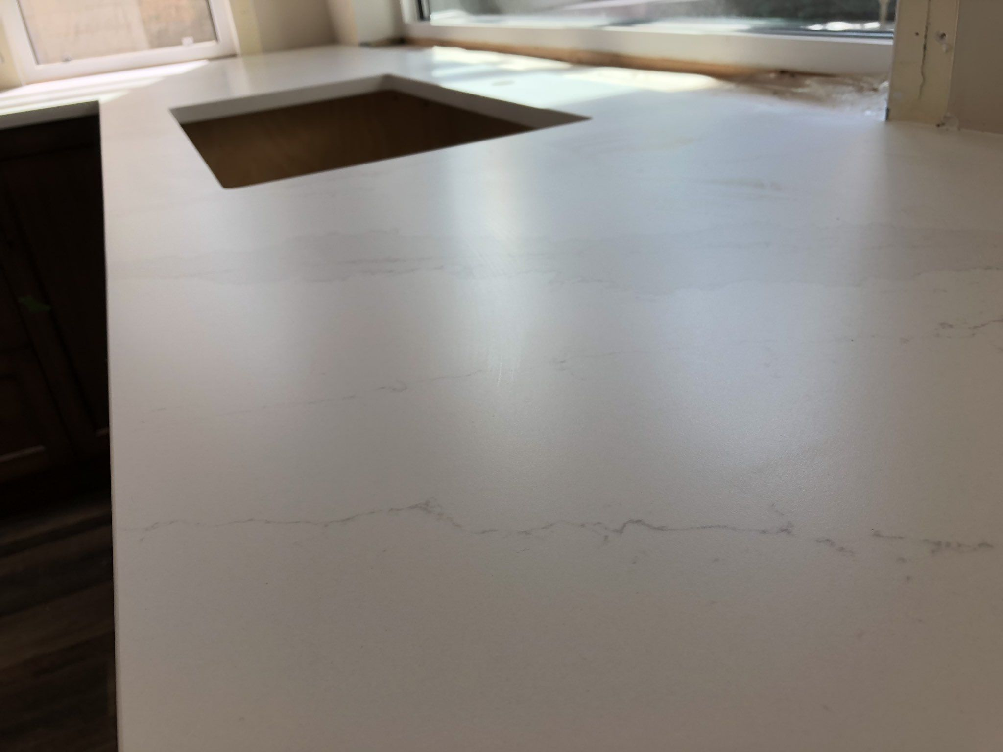 Silestone Eternal Galacatta Gold In Suede Honed Finish Top Of